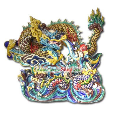 Chinese Cochin Ceramics-Two Dragons Playing Ball