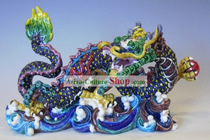 Chinese Cochin Ceramics-Large Dragon Playing with Ball