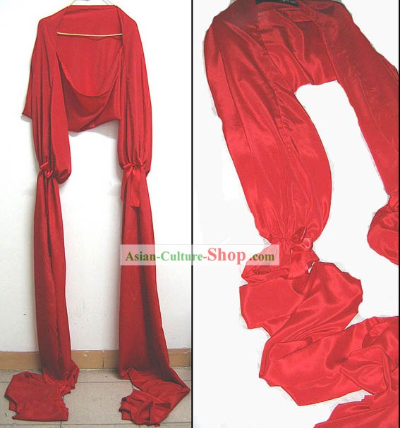 Traditional Red Long Silk Water Sleeve