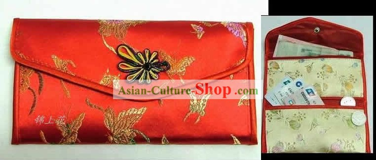 Chinese Classic Red Butterfly Purse