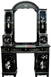 Chinese Classic Palace Lacquer Ware Mirror Cabinet