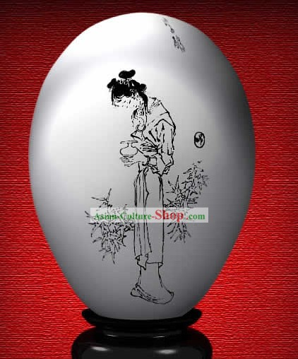 Chinese Wonder Hand Painted Colorful Egg-Zi Juan of The Dream of Red Chamber