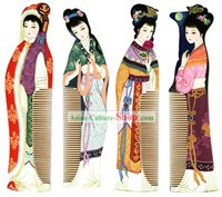 Chang Zhou Comb Series-Ancient Four Beauties(4 pieces set)