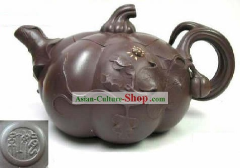 Chinese Hand Made Zisha Teapot-Pumpkin
