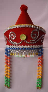 Hand Made Mongolia Beads Hat for Woman