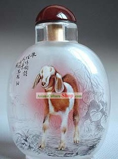 Snuff Bottles With Inside Painting Chinese Zodiac Series-Goat