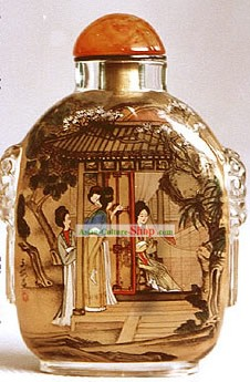 Snuff Bottles With Inside Painting Characters Series-Palace Women