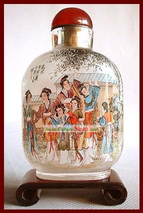 Snuff Bottles With Inside Painting Characters Series-Palace Beauties 1