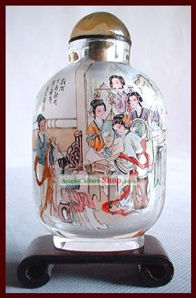 Snuff Bottles With Inside Painting Characters Series-Chinese Palace Music Group