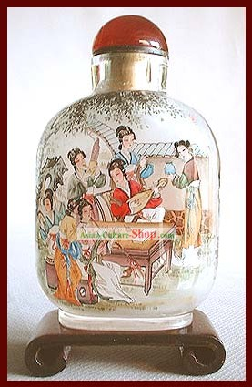 Snuff Bottles With Inside Painting Characters Series-Chinese Princess Love Music