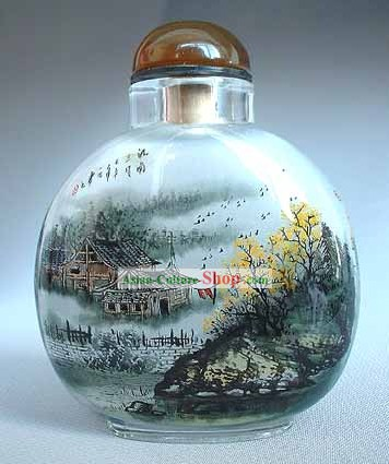 Snuff Bottles With Inside Painting Landscape Series-Autumn