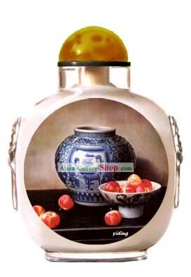 Snuff Bottles With Inside Painting Still Life Series-Chinese Porcelain Charm