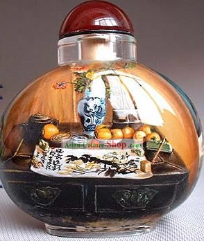 Snuff Bottles With Inside Painting Still Life Series-Sanctum