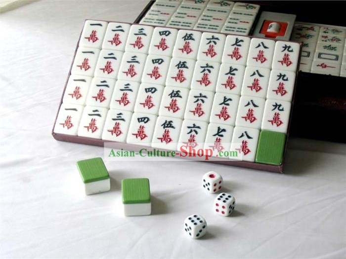 Chinese Taiwan Bamboo Mahjong Set(144 pieces)
