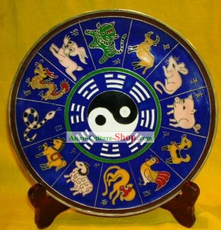 Chinese Stunning Palace Cloisonne Collectible-Zodiac Tweleve Animals