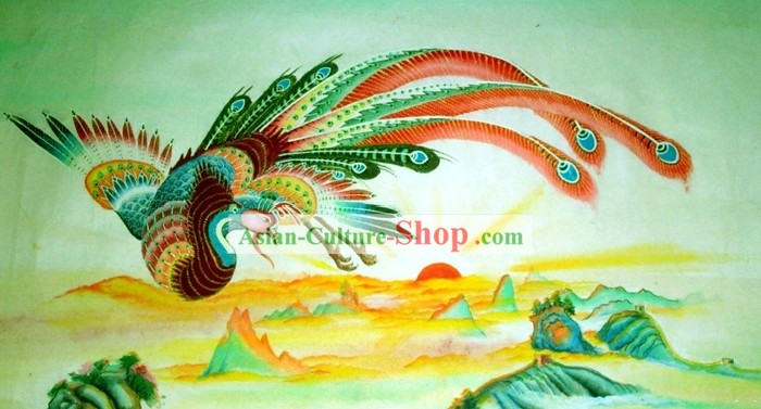Chinese Traditional Painting with Meticulous Detail-Phoenix King