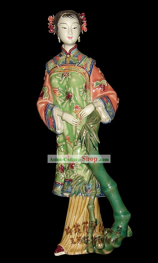 Chinese Stunning Colourful Porcelain Collectibles-Ancient Beauty
