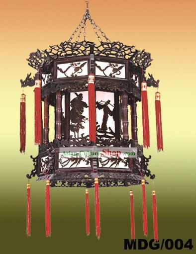 Chinese Hand Made Painted Two Layers Palace Lantern - Ancient Chinese