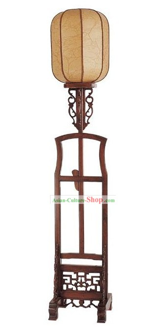 Chinese Ancient Palace Wood Floor Lamp(Lantern)