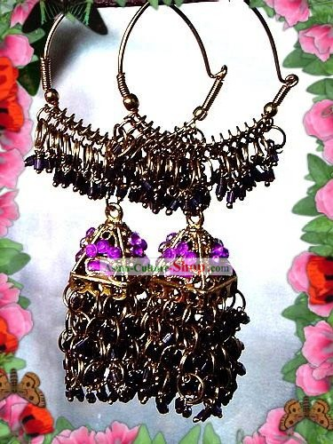 Indian Bohemia Fashion Earrings-Purple Taste