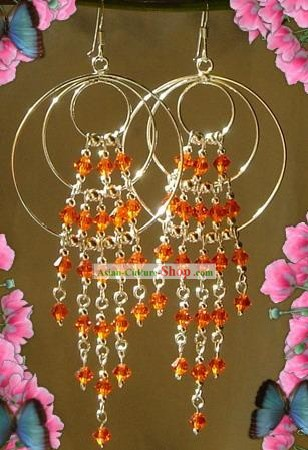 Indian Bohemia Fashion Earrings-Orange Guess