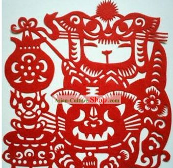 Chinese Paper Cuts Classics-Lucky Tiger Child