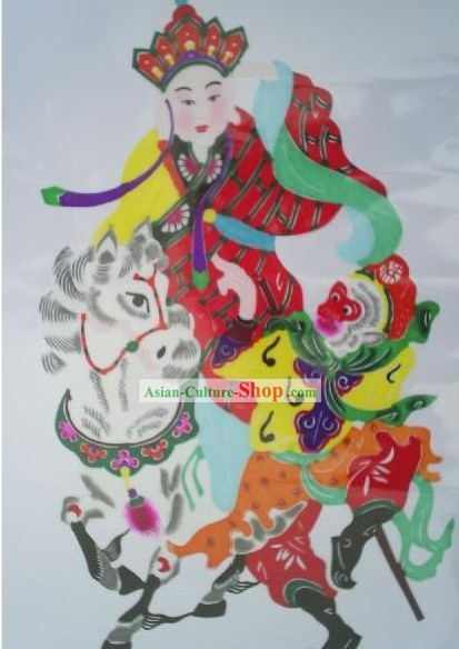 Chinese Paper Cuts Classics-Tang Seng Pilgrimage to the West for Buddhist Sutra