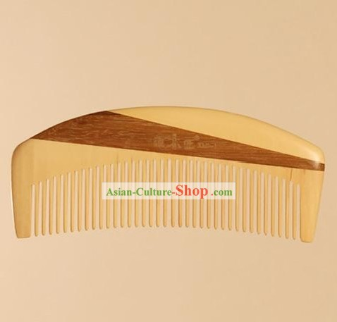 Chinese Carpenter Tan 100% Handicraft Mixed Wood Comb