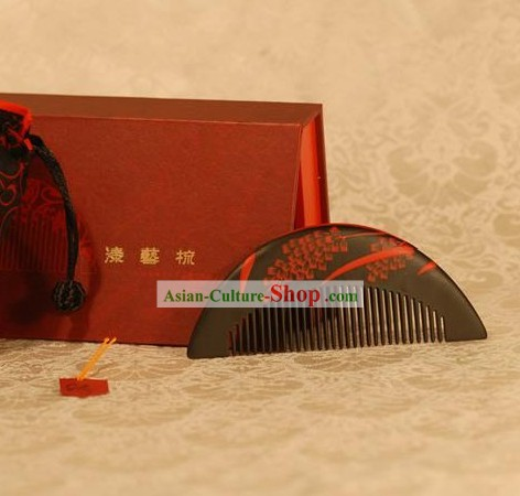 Chinese Carpenter Tan Lacquerwork Combs Gift Package-Red