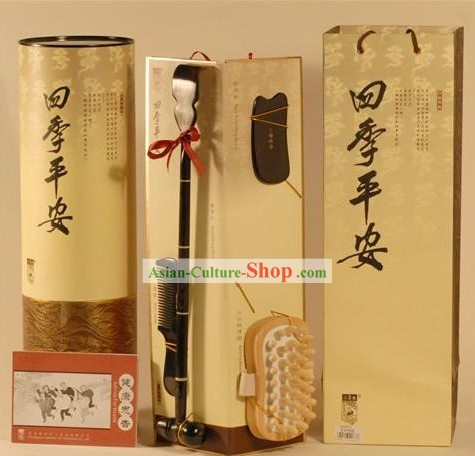 Chinese Carpenter Tan Hand Made 4 Pieces Parents Gift Set
