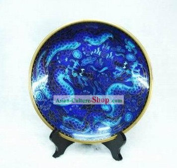 Chinese Palace Dragon Pair Closionne Plate