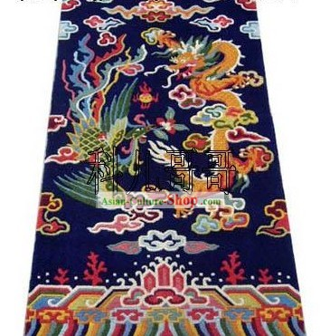 Art Decoration Chinese Hand Made Wool Dragon and Phoenix Rug(180?��93cm)