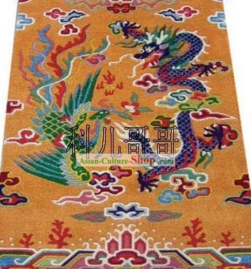 Art Decoration Chinese Hand Made Wool Dragon and Phoenix Rug 1 (180?��93cm)