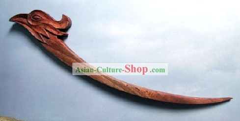 Hand Carved Chinese Traditional Walnut Hair Pin (Hairpin)-Phoenix