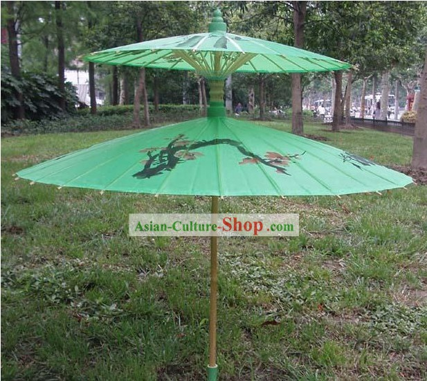 Chinese Handmade and Painted Two-Layers Silk Wedding Romantic Umbrellas/Parasols 2