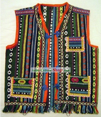 Stunning Miao Minority Silk Thread Hand Embroidery Chinese Jacket for Child