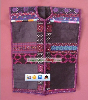 Stunning Miao Minority Silk Thread Hand Embroidery Jacket for Child