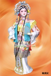 Handmade Peking Silk Figurine Doll - The Drunken Beauty Yang Gui Fei