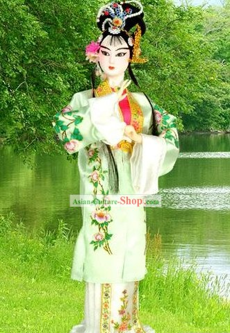 Chinese Silk Beijing Opera Figurine-Cui Yingying