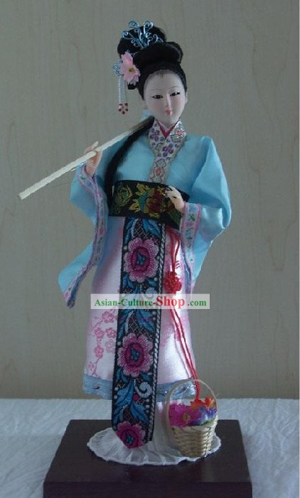 Handmade Peking Silk Figurine Doll - Lin Daiyu in Dream of the Red Chamber