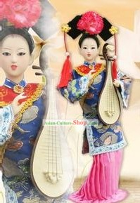 Handmade Peking Silk Figurine Doll - Ancient Musician