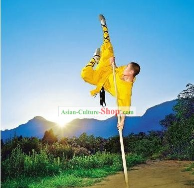 Chinese Shao Lin Wu Shu White Wax Long Pole