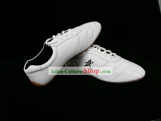 Chinese Professional White Kung Fu (Wu Shu) Shoes
