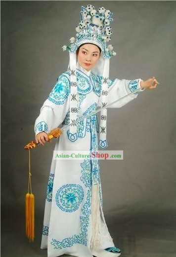 Supreme Chinese Traditional Wu Sheng Costumes and Hat Complete Set