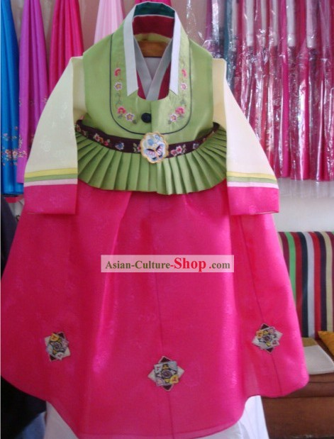 Classical Korean Palace Hanbok Complete Set for Children