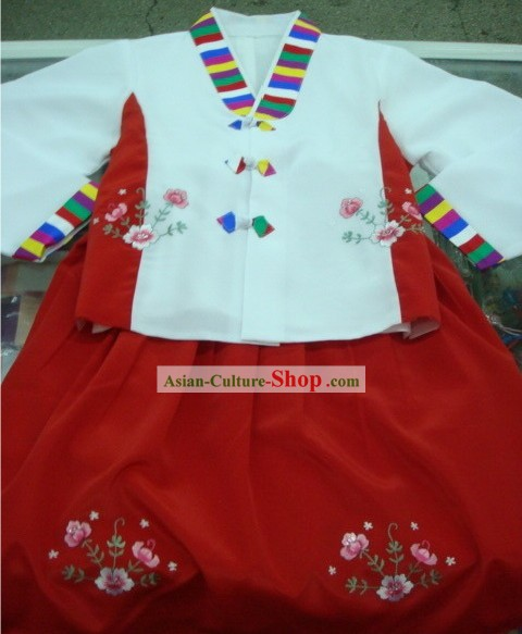 Traditional Korean Restaurant Hanbok Complete Set for Women