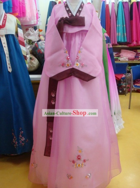 Korean Classic 100% Handmade Korean Hanbok for Woman-Most Beautiful Bride