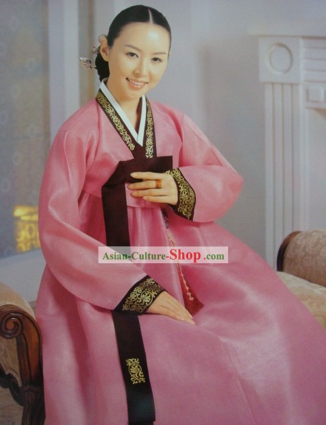 Korean Classic 100% Handmade Korean Hanbok for Woman (pink)