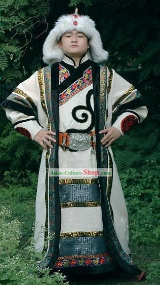 Supreme Chinese Minority Classical Clothing and Hat Complete Set