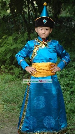 Chinese Traditional Mongolia Kids Costume Complete Set